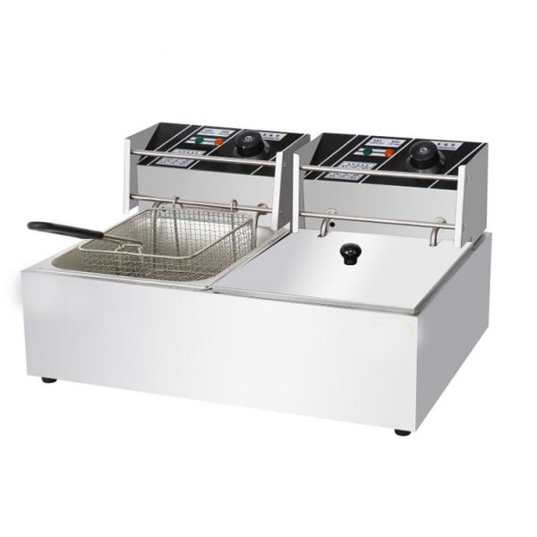 Ce Approved Twin 10L Tank Commercial Stainless Steel Deep Fryer